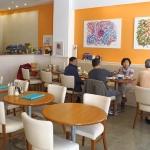Vegetarisches Restaurant Innenansicht - Vegetarian restaurant indoors